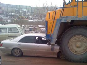 Столкновение Toyota c БелАЗом