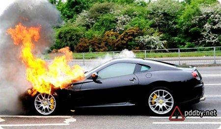 Как предотвратить возгорание в авто?